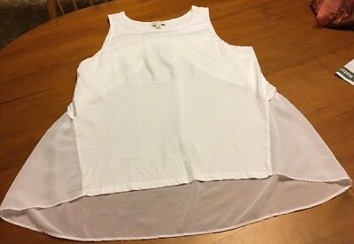 Witchery Ladies Long Singlet Tunic Top Size XL