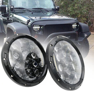 7 inch LED Headlights Projector Lens High Output DRL Lamp For JEEP JK GQ PATROL
