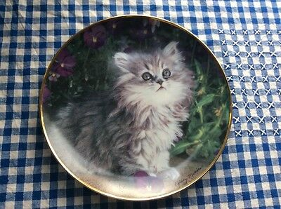 Franklin MinT Collector Plate Purrfection Kittens