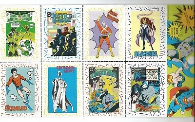 Dc Superheroes/villains Card Sheets From Comic Packs (4 Different)