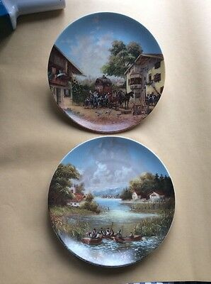 2 X Christian Luckel Collectors Plate Pair 1980's