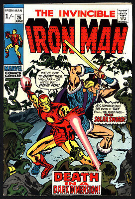 Iron Man #26 June 1970. Don Heck Art, Great Value, Lovely White Pages!