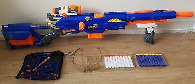 Nerf Gun Sniper Rifle Longstrike CS-6 Blaster With Sight mags + bullets 44.99p