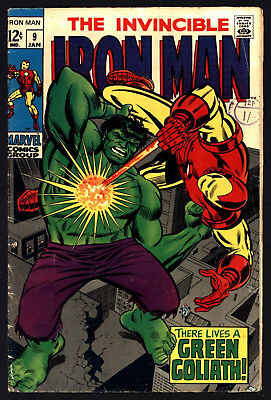 Iron Man #9 Jan 1969. Very Glossy Cover. Great Value, Great White Pages!