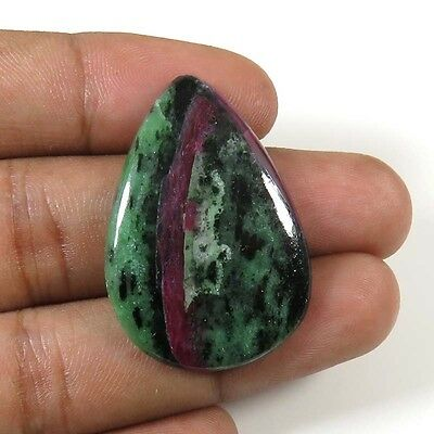 RUBY ZOISITE CABOCHON PEAR NATURAL LOOSE GEMSTONE NICE~ 30.90Cts. 34x23mm. RZ-80