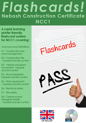 NEBOSH National Construction Certificate Revision Flashcards - Pass first time!