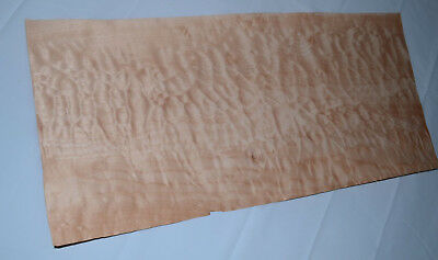 Quilted Maple Raw Wood Veneer Sheets 9.5 x 21 inches 1/42nd thick        E4706-8