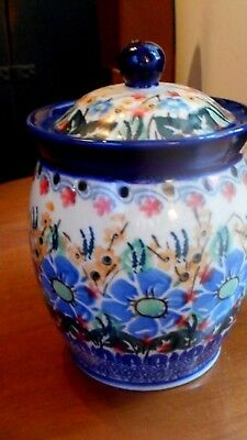 Polish Pottery Canister 6 inches Unikat Starzyk