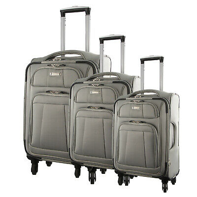 NEW Pierre Cardin Soft Luggage Case - SET OF 3 (PC2645)