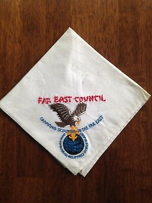 Vintage Embroidered Far East Council Neckerchief