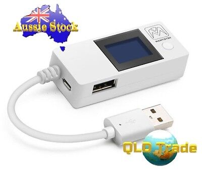 MantisTek® White Tail USB Doctor Voltage Current Detector Power Tester  AU STOCK