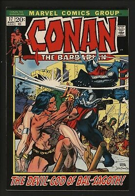 Conan The Barbarian #17 Aug 1972 Fantastic White Pages Barry Smith Art - Vf!