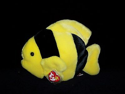 TY Beanie Buddy Buddies BUBBLES Fish 1998 MINT Private Collection 11""