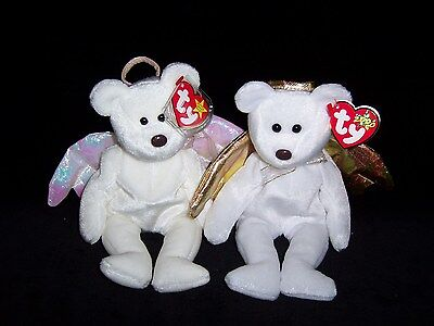 TY Beanie Baby Babies HALO 1998 & HALO II 2 Bear 2000  MINT Private Collection