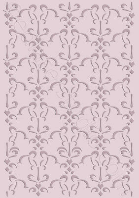Floral Stencil Pattern Repeatable Vintage Template Furniture Fabric Crafts FL37