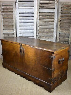 Large 17th century French voyage trunk