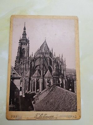 Late 19th early 20th century carte de visite of St Vitus' cathedral Prague.