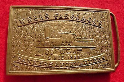 Brass Belt Buckle Wells Fargo And Co's Bankers And Forwarders