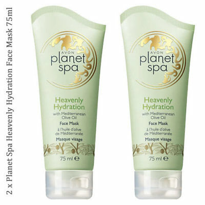 2 x Avon Planet Spa Heavenly Hydration Face Mask with Olive Oil 75ml // Skincare