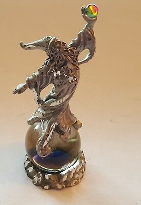 Pewter Wizard w Crystals 1994 MWFP miniature