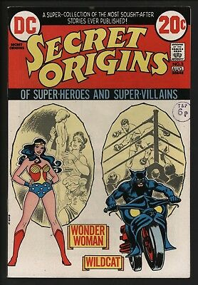 Secret Origins #3 Origin Wonder Woman & Wildcat. Glossy With White Pages