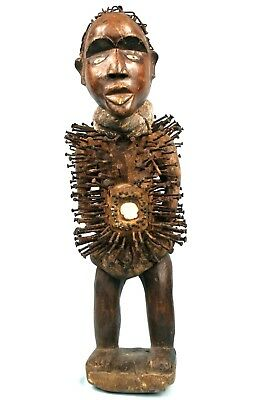 Art Africain Arts Tribaux - Grand Fétiche à Clous Kongo - Ex Collection - 67 Cms