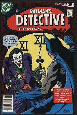 Detective Comics #475 Classic Cover And Joker Story Rogers Art Lovely 9.2 Grade