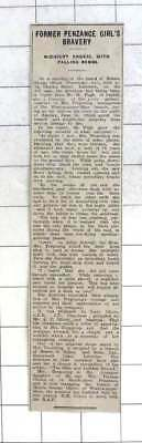 1942 Gallant Conduct Of Mrs Tregoning Weston-super-mare Ordeal Falling Bombs