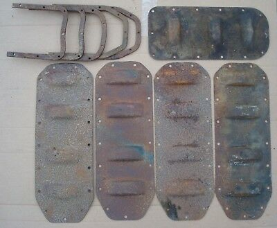 Lot Of Vintage Ford Model T Dip Oil Pan Covers & Inside Plates