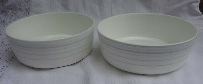 Pair of Royal Doulton 'Line' Cereal Bowls