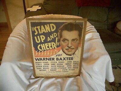 1934 Stand Up And Cheer Poster 14 by 18 inches