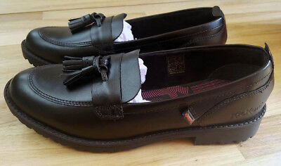 Kickers Junior Girl's Lachly Loafer Black Size 5 - 38 - New in Box