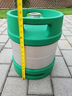 Empty 5.16 Gallon-1/6th Barrel- Stainless Steel Beer Keg. Rubber Wrapped Sankey