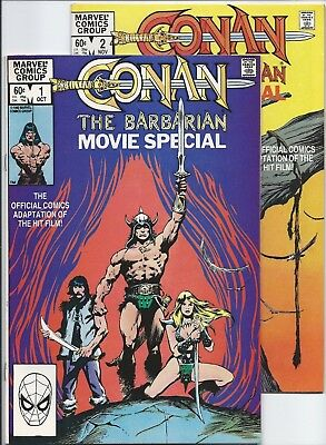 Conan the Barbarian Movie Special 1-2 Complete Set VF (Oct 1982, Marvel) Buscema