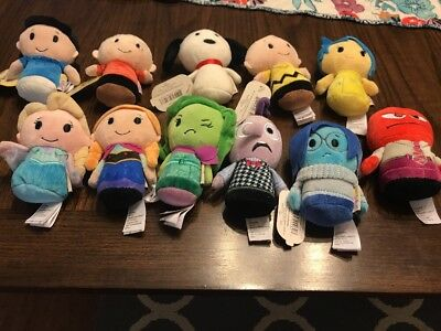 LOT 11 Hallmark Itty Bittys-Disney Inside Out, Frozen, And Peanuts