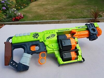 "Nerf Elite Zombie Strike Pump Action Dominator Toy Gun ""Doominator"" Green"