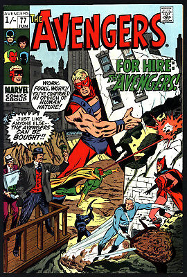 Avengers, #77, Jun 1970, Very Tight & Glossy, Off White/ White Pages!