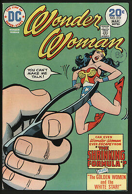 Wonder Woman #210 1974 With White Pages!