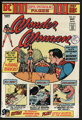 Wonder Woman #211 1974 Ginat Isue With White Pages!