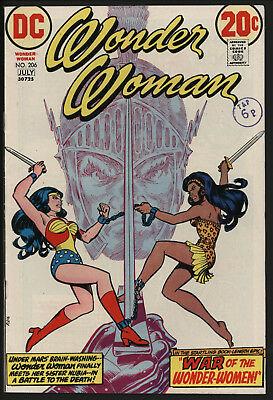 Wonder Woman #206 1973 With White Pages!