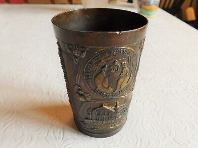 Rare! 1909 Vintage Alaska Yukon Pacific Exposition Metal Cup Seattle Fair