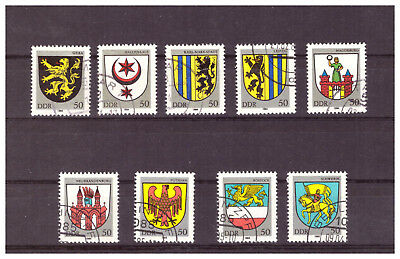 Briefmarken - DDR - Michel-Nr. 2857-2861 + 2934 - 2937