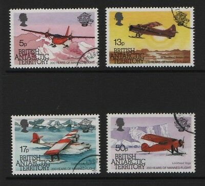 British Antarctic Territory SG 119-122  Manned Flight 1983  Very Fine Used