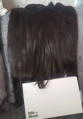 milk and blush Triple Weft extensions