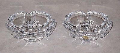Grand Pair of Cristal d'Arques Lude 24% Lead Crystal Candlesticks Candle Holders