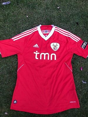SLB Benfica shirt 2011/12 official adidas Excel Cond 9/10 ..Med  Adult. UK ONLY