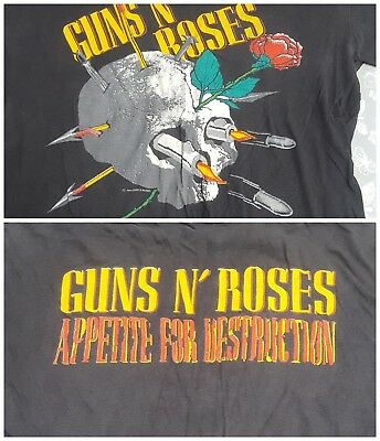 Guns N Roses Original Official Vintage T-shirt from 1988. Used Large appetite