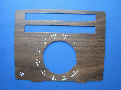 Western Electric 20 Button Rotary Walnut Faceplate