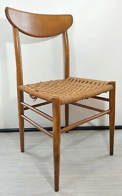 Vtg Teak Woven Rope Paper Cord Chair Seat Made in Italy MCM & VTG TEAK WOVEN Rope Paper Cord Chair Seat Made in Italy MCM - $49.99 ...