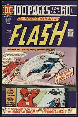 Flash #232 -Terrific 100 Page Giant Classic Stories Vf/nm 9.0 - White Pages 1975